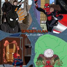 Spider-Man: Lejos de Casa - World Tour. Un proyecto de Ilustración, Bellas Artes, Cómic y Cine de Alejandro Fuentes Alonso - 09.06.2019