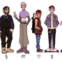 Mi Proyecto del curso: Introducción al diseño de personajes para animación y videojuegos. Um projeto de Design de personagens de Cata ---- - 08.08.2019
