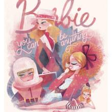 Barbie para Mattel y Gallery 1988. Un projet de Illustration, Character Design, Conception d'affiche et Illustration numérique de Gemma Román - 09.08.2019