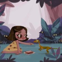 Jurassic Park . Un projet de Illustration, Illustration numérique et Illustration jeunesse de Gemma Román - 07.06.2019