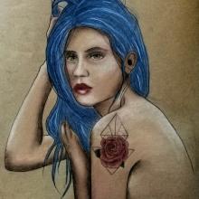Blue. Un proyecto de Ilustración e Ilustración de retrato de Laura Bello - 12.08.2019