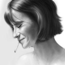 Mi Proyecto del curso: Retrato realista con lápiz de grafito. Un proyecto de Ilustración digital, Ilustración de retrato, Dibujo de Retrato y Dibujo realista de Nashaat Conde Cid - 15.08.2019