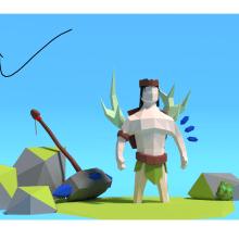 Mi Proyecto del curso: Modelado de personajes low poly para videojuegos . Um projeto de 3D e Design de personagens 3D de Eda Elvira - 19.08.2019