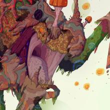 Guardián del Boskote. Un proyecto de Dibujo, Dibujo artístico e Ilustración digital de Alex Shagu - 21.08.2019