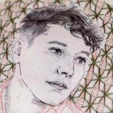 Mi Proyecto del curso: Creación de retratos bordados (Lucio). A Illustration, Porträtillustration, Stickerei und Textile Illustration project by Bugambilo - 21.08.2019