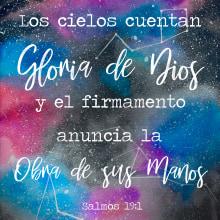 Galaxia/ Salmos 19:1. Un proyecto de Ilustración de Daniela Rodarte Corrales - 22.08.2019