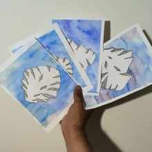 Meteoberg   Iceorito. A Illustration, Fine Art, Watercolor Painting, and Artistic drawing project by Antonio Fernández San Emeterio - 08.22.2019