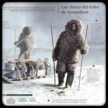 La carrera por la conquista del Polo Sur. Um projeto de Infografia de José Miguel Mayo Hernández - 26.08.2019