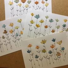 Las flores son para el otoño | Flowers are for fall . Um projeto de Ilustração, Artes plásticas e Pintura em aquarela de Antonio Fernández San Emeterio - 26.08.2019