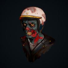 Zombie Police. A 3-D, Spieldesign, Skulptur, Videospiele und Design von 3-D-Figuren project by Andres Rendón - 28.08.2019