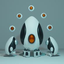 Mi Proyecto del curso: Introducción al Diseño y Modelado 3D con Blender. Um projeto de 3D, Escultura e Modelagem 3D de Pablo Santirso - 29.08.2019