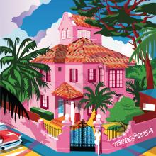 Torre Rosa. Iustración. Un proyecto de Ilustración, Dirección de arte y Diseño gráfico de Juanma García Escobar - 31.08.2019