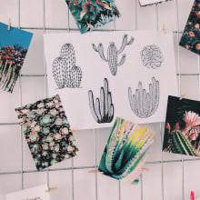Desert Alchemy - T-shirts Collection. A Fashion, and Textile illustration project by Carmen Pérez Medina - Surface Pattern Designer - - 08.31.2019