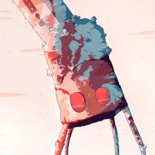 En el desierto de sal.. Un proyecto de Diseño de personajes, Dibujo, Ilustración digital y Dibujo artístico de Alex Shagu - 31.08.2019