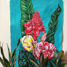 My project in Botanical Painting with Acrylic course. A Illustration, Printing, Textile illustration, Acr, and lic Painting project by giulia_fiamin - 09.09.2019