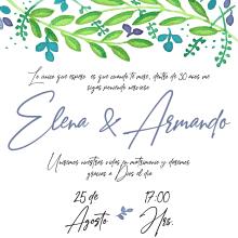 Invitación con acuarela.. Un proyecto de Diseño y Pintura a la acuarela de Daniela Rodarte Corrales - 09.09.2019