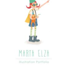 Portafolio PDF Marta Elza. Un projet de Illustration, Illustration numérique et Illustration jeunesse de Marta Elza - 10.09.2019