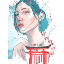 Kyoto memories. Un proyecto de Ilustración, Ilustración digital e Ilustración de retrato de Amalia Torres - 13.06.2019
