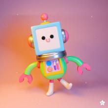 Robots. A Illustration, 3-D, Design von Figuren, Spielzeugdesign, Digitale Illustration, Design von 3-D-Figuren und Kinderillustration project by Leonardo Estrada - 18.09.2019