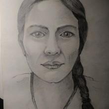 Retrato realista con lápiz de grafito. Un proyecto de Dibujo a lápiz de Antonio de Haro Garzón - 19.09.2019