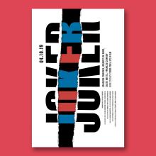 JOKER 2019. Poster tipográfico.. A Grafikdesign, T, pografie und Kino project by BlueTypo - 23.09.2019