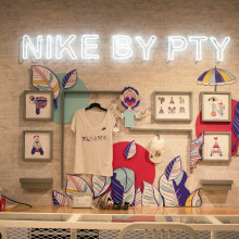 Ilustraciones para Nike. Um projeto de Design, Ilustração, Instalações, Direção de arte, Design gráfico e Criatividade de Kiosco Creativo - 01.09.2019