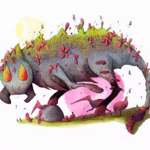 Criatura Floet 2: Pyrotrousty Floet. Un proyecto de Ilustración, Dibujo, Ilustración digital y Dibujo artístico de Alex Shagu - 29.09.2019