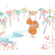 Bingata Okinawa. Un projet de Illustration de Flor Kaneshiro - 28.09.2019