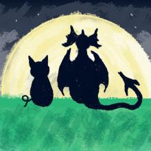 Cuento Cerdos y Dragones. Un proyecto de Ilustración digital e Ilustración infantil de Isi Cano - 03.06.2019