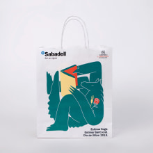 Banc Sabadell & Sant Jordi. Un proyecto de Ilustración de Higinio Rodríguez Menayo - 04.10.2019