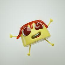 Peter the Pudding. Un proyecto de 3D, Diseño de personajes y Diseño de personajes 3D de Robson Costa - 07.10.2019