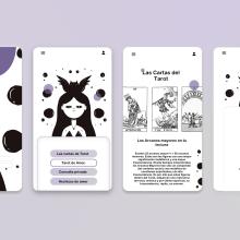 Mi Proyecto del curso: Witch Bell App - Tu app mágica. A Illustration und UI / UX project by niña silla - 10.10.2019