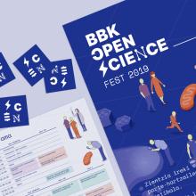 BBK OPEN SCIENCE Fest 2019. Um projeto de Br, ing e Identidade, Design gráfico e Web design de Clara Briones Vedia - 15.10.2019
