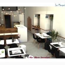 Coffee shop La Margarita Azul. A Interior Design project by Mar Marín - 03.20.2019