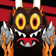 Ilustración | Evil Cuphead: Deal With The Devil. Un proyecto de Ilustración, Dirección de arte, Ilustración vectorial, Dibujo y Videojuegos de Luis Daniel Pérez Molina - 24.10.2019