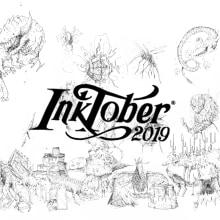 Inktober 2019. Alexshagu. Un proyecto de Dibujo a lápiz, Dibujo artístico e Ilustración de Alex Shagu - 01.11.2019