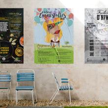 Carteles para Comissions de festes de Santa Eulalia y l'Ajuntament de L'H. Um projeto de Design de cartaz de Patricia PHP - 04.11.2019
