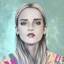 Mi Proyecto del curso: Retrato con lápiz, técnicas de color y Photoshop. Um projeto de Desenho a lápis, Ilustração digital, Desenho de Retrato, Desenho realista e Pintura Acrílica de Alexandra Ferrera Arenas - 05.11.2019