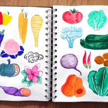 Mi Proyecto del curso: Técnicas de ilustración para desbloquear tu creatividad. A Kreativität project by Alex Alabadi - 08.11.2019