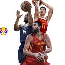 Mundial de Basketball China 2019. Um projeto de Ilustração, Publicidade e Ilustração digital de Adolfo Correa - 01.08.2019