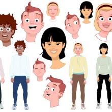 """Creación de personajes para el espectáculo """"Messi 10 Challenge"""". Un proyecto de Ilustración, Diseño de personajes y Animación de personajes de Juanma García Escobar - 15.11.2019"""