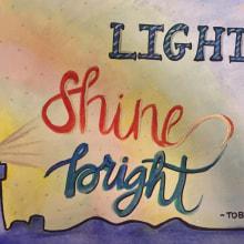 Mi Proyecto del curso: Light Shine Bright. A Calligraph project by Lisbeth Dame - 11.21.2019