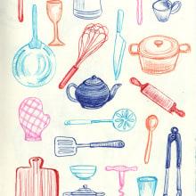Cuaderno de dibujo. A Zeichnung und Illustration project by Marina Labella - 01.12.2019