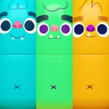 Monstruos . Un proyecto de Ilustración, 3D y Diseño de personajes de Adriana Camargo Niño - 20.06.2016