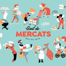 GENT DE MERCATS. Un proyecto de Ilustración y Animación 2D de Juanma García Escobar - 09.12.2019