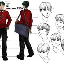 Mi Proyecto del curso: Creación de personajes manga. Un proyecto de Diseño de personajes de Caged Art - 18.12.2019