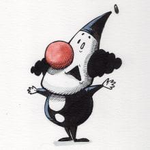 Popó de Klown. Tira cómica. A Illustration und Grafischer Humor project by Luciano Labate - 22.12.2019