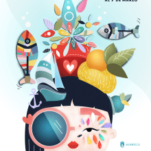 """""""Marbella Carnavalera"""" Mi Proyecto del curso: Ilustración vectorial con estilo. Um projeto de Design, Design gráfico e Ilustração digital de Sofía Gregorio - 24.12.2019"""