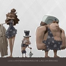 Mi Proyecto del curso - Fábrica de personajes ilustrados: Los 3 enterradores de las cavernas. Un proyecto de Ilustración y Diseño de personajes de Asier Astorga Casado - 25.12.2019