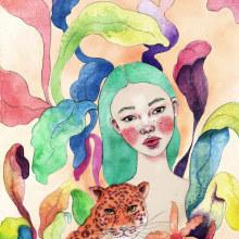 Mi Proyecto del curso: Animalario botánico: acuarela, tinta y grafito. Um projeto de Ilustração, Desenho a lápis e Pintura em aquarela de Vrigit Smith - 24.11.2019
